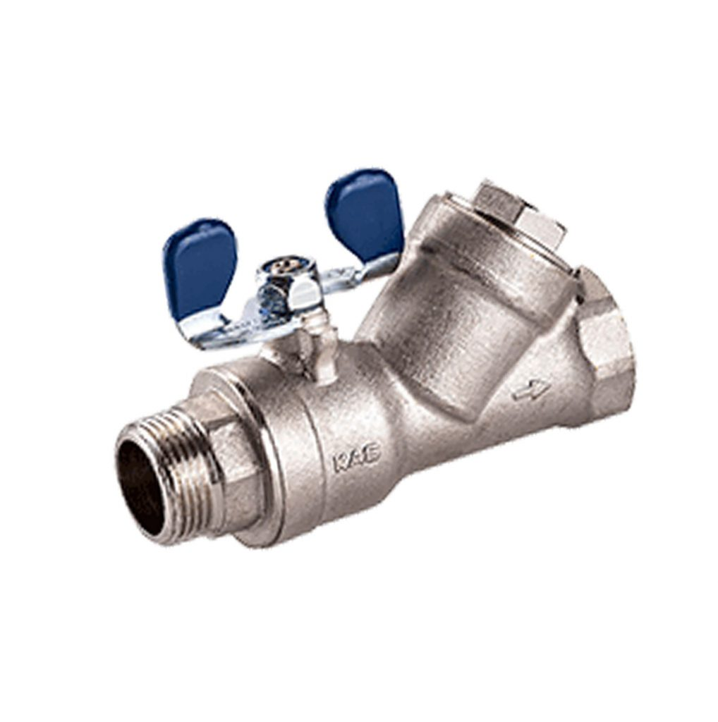 Full Bore Brass Ball Valve with Filter
