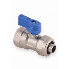 Mini Brass Ball Valve For Pipe Connection-blue