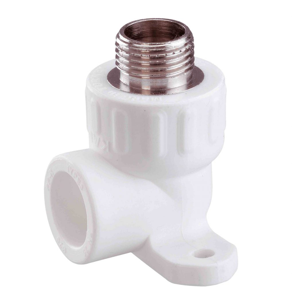 PPR Отвод комбинированный с креплением с наружной резьбой