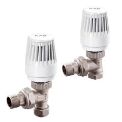Angle Thermostatic Radiator Valve - PVC
